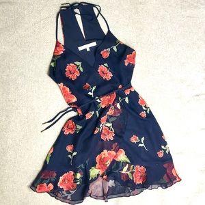 Lovers + Friends Dresses - Lovers +Friends Gigi floral Wrap Dress/Navy Size:S